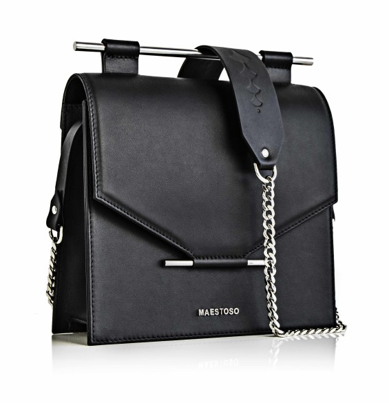 GEANTA MAESTOSO BLACK SQUARE BAG 1
