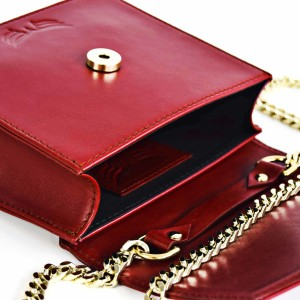 Geanta Maestoso Ruby Red Mini Square Bag