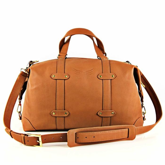 Geanta de voiaj Maestoso Tobacco Brown Duffel Bag