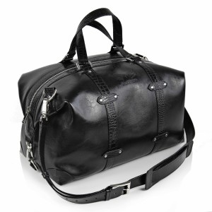 Maestoso Black Croco Duffle Bag