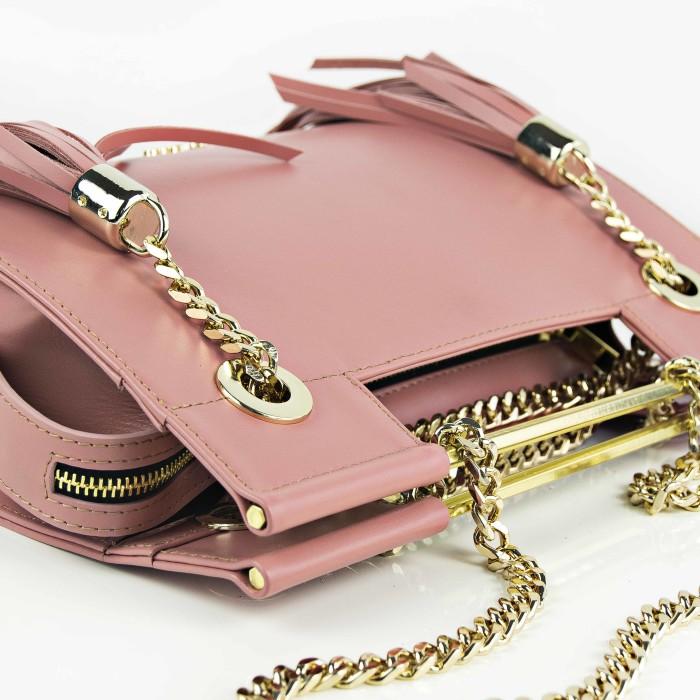 Maestoso Dusty Pink Fringe Clutch