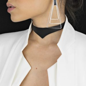 Chkoer din piele Maestoso Black Arrow Necklace