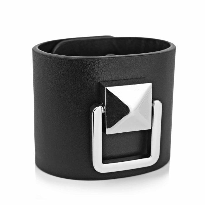Bratara din piele naturala Maestoso Black Bracelet