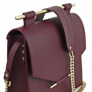 Maestoso Bordeaux Square Bag