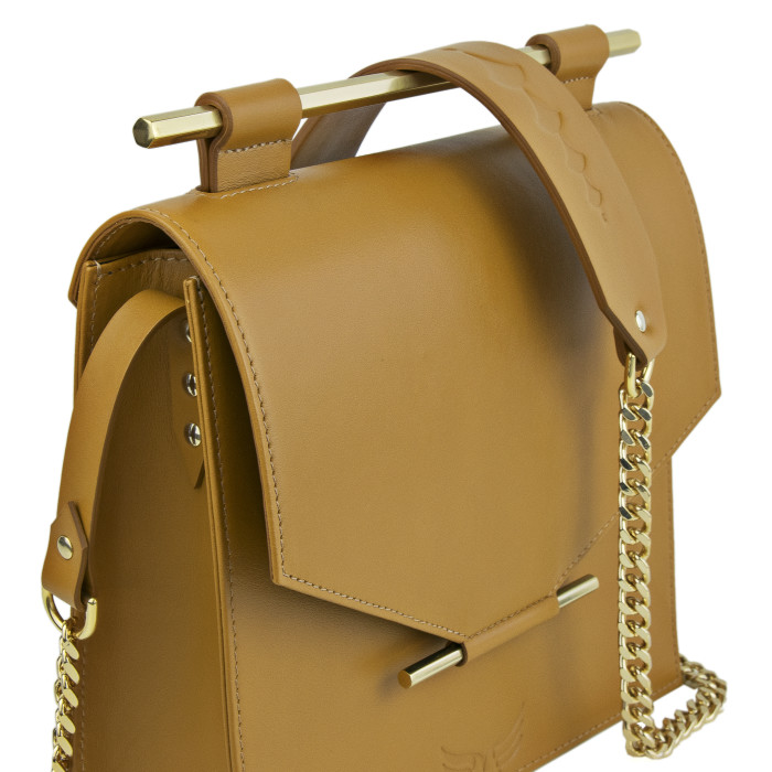 Maestoso Mustard Square Bag