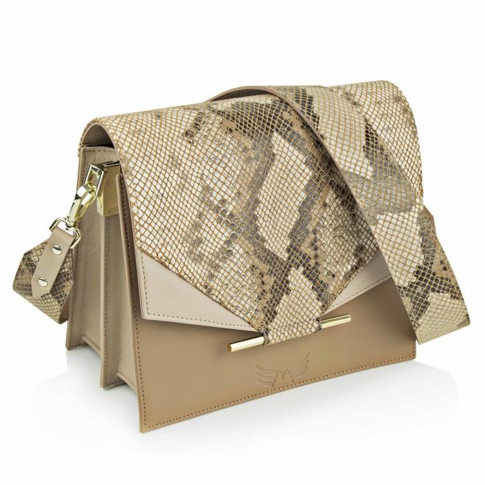 Maestoso Nude & Snake Print Allegro Bag