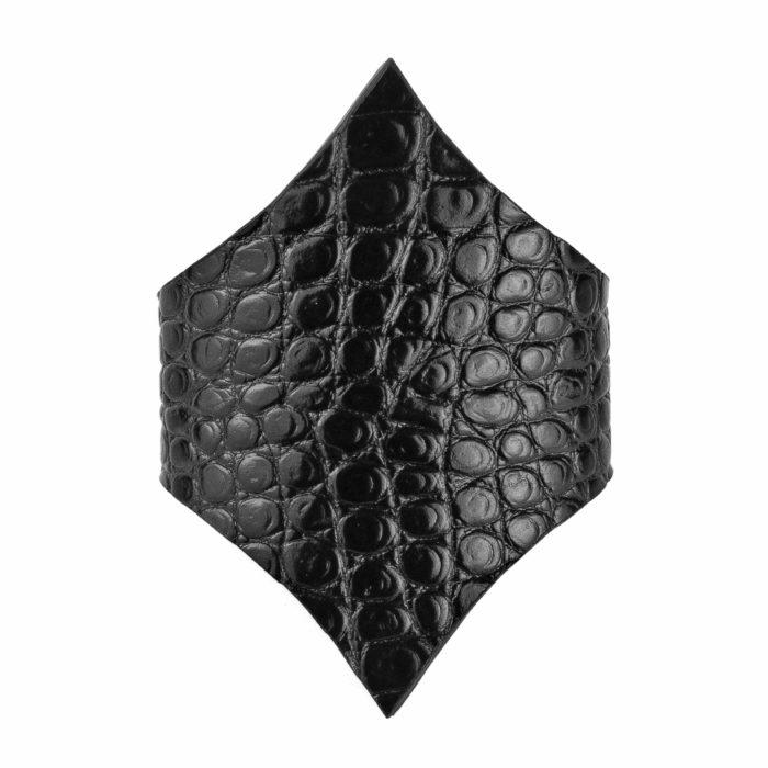 Maestoso Black Croco Arrow Bracelet