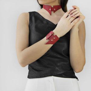 Maestoso Ruby Red Sharp Choker