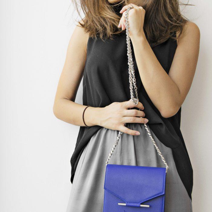 Royal Blue Mini Square Bag