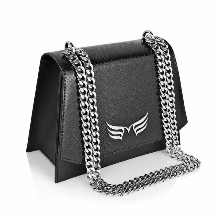 Geanta din piele naturala Black Snake Mini Skylark Bag