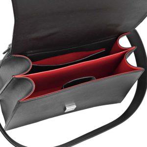 Geanta office din piele naturala Maestoso Black Snake Large Skylark Bag