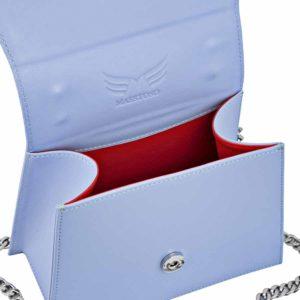 Geanta din piele naturala Maestoso Blue Sky Mini Skylark Bag