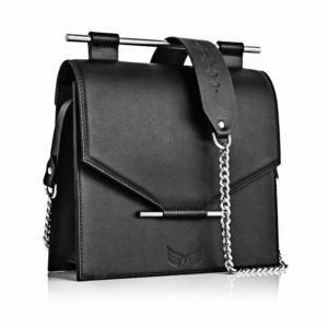 Geanta din piele naturala Maestoso Black Square Bag