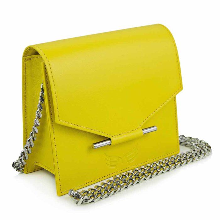 Maestoso Yellow Mini Square Bag
