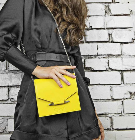 Maestoso Yellow Mini Square Bag
