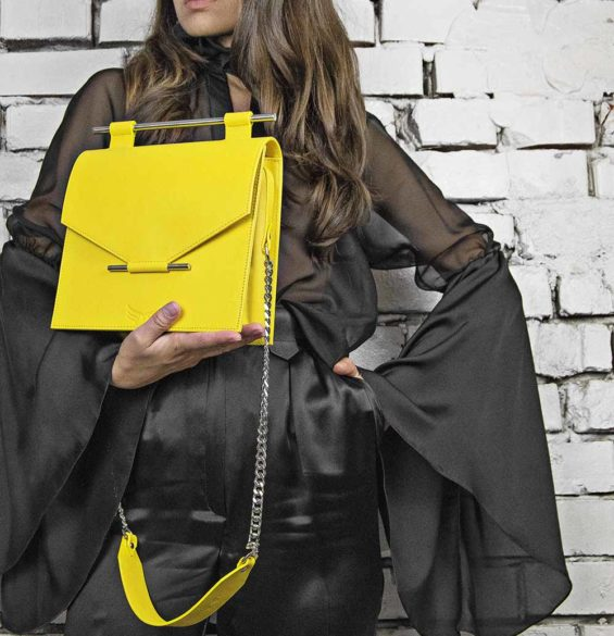 Maestoso Yellow Square Bag