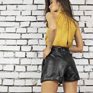 Maestoso Leon Short Leather Pants