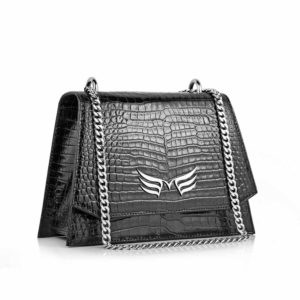 Black Croco Mini Skylark Bag