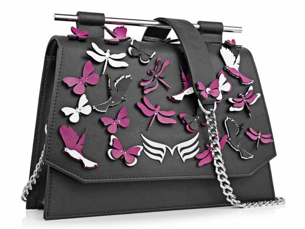 Black & Magenta Garden Party Bag