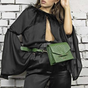Maestoso Green Snake Waist Bag