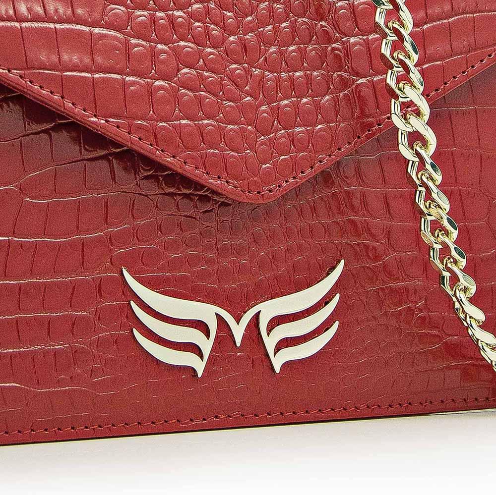 red croco square bag ii maestoso