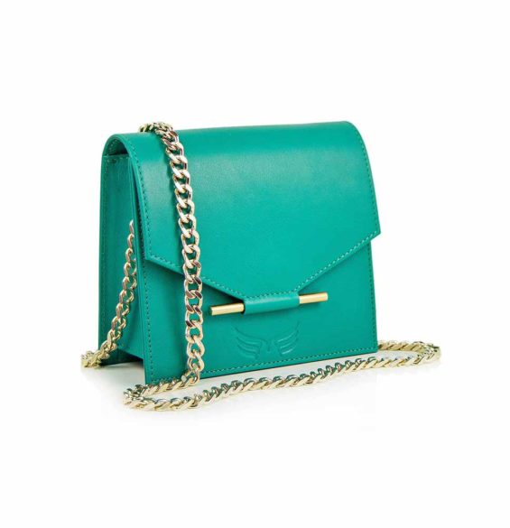 Maestoso Turquoise Mini Square Bag