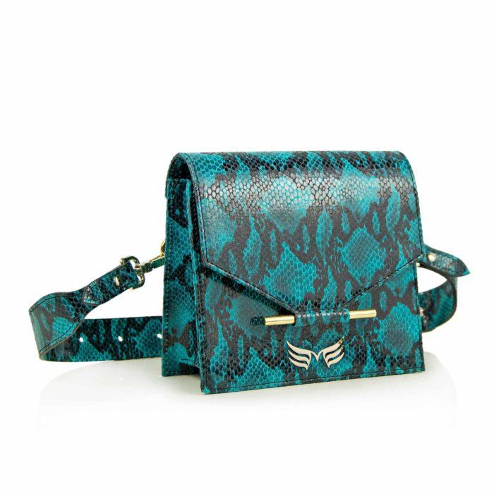 Maestoso Turquoise Snake Waist Bag