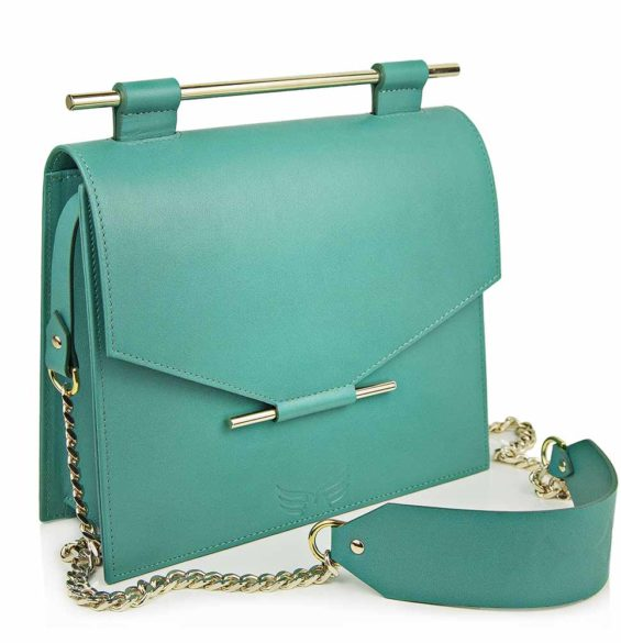 Maestoso Turquoise Square Bag