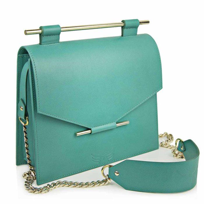 Maestoso Turquoise Square Bag