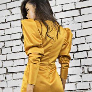 Rochie aurie Alvar Gold Dress