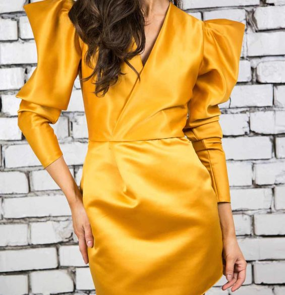Rochie aurie Alvar Gold Dress