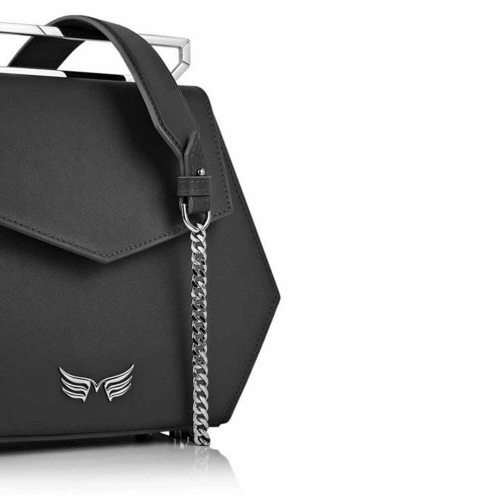 Geanta premium, realizata din piele naurala, Maestoso Black Iridium Bag
