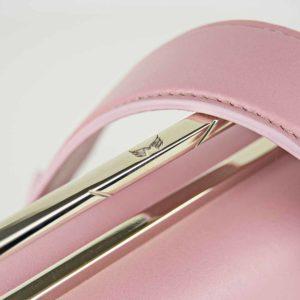 Geanta premium, realizata din piele naurala, Maestoso Dusty Pink Iridium Bag