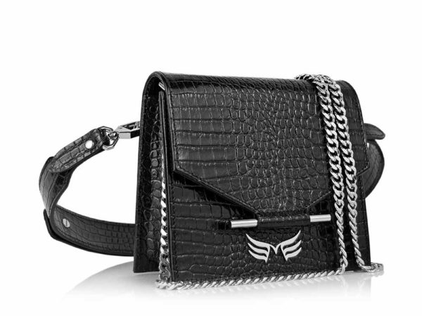 MAESTOSO WAIST BAG - BLACK CROCO