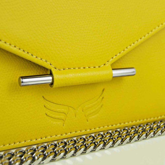 Borseta din piele naturala, culoarea galbem, Maestoso Waist + Mini Bag Yellow