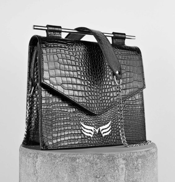 Maestoso Black Croco Square II Bag