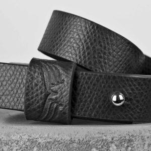 Bratara din piele neagra Maestoso Black Wrap Bracelet