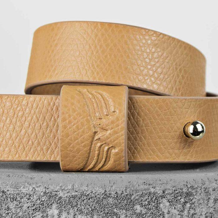 Bratara din piele camel Maestoso Camel Wrap Bracelet