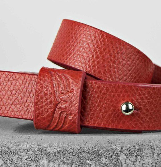 Bratara din piele rosie Maestoso Red Wrap Bracelet
